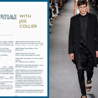 Aertime Interview / Topmodel Joe Collier