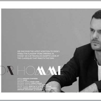 LAB A4 Mag // AUS Exclusive Dior Homme feature