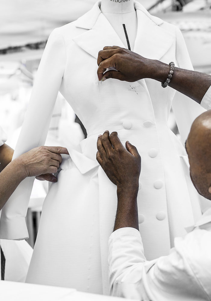 Inside the ateliers of the House of Dior, 2012. Dior Heritage collection, Paris © Pol Baril