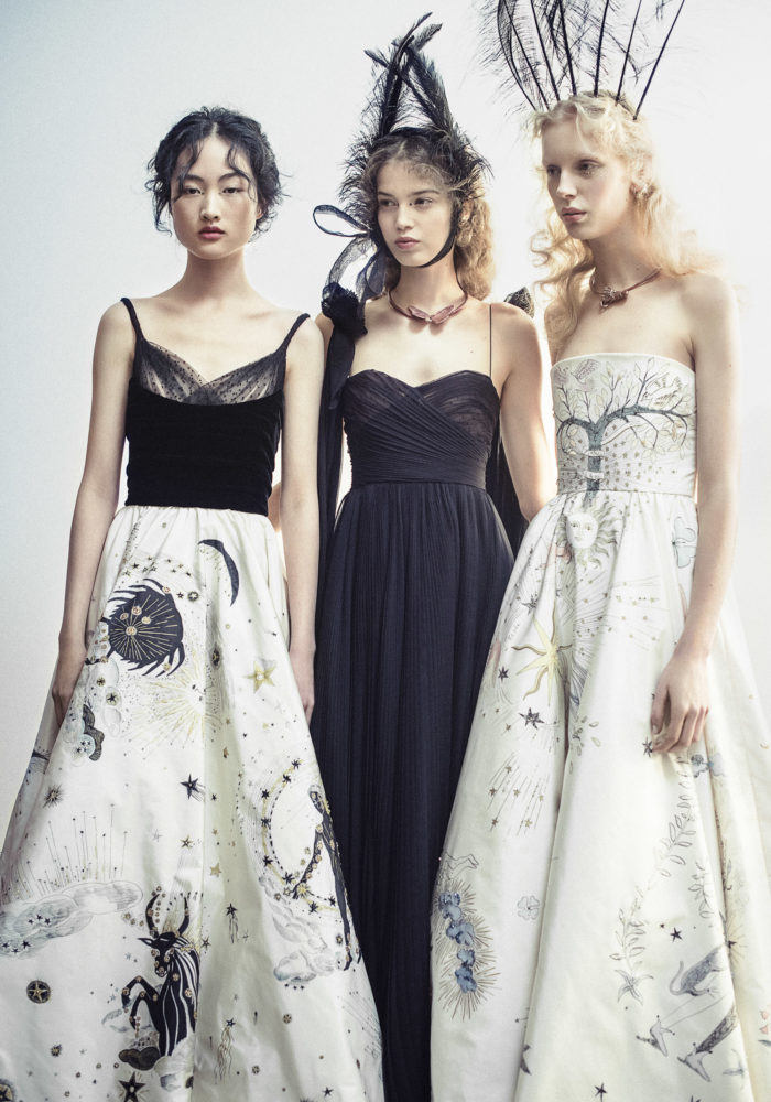 Christian Dior, Paris (fashion house); Maria Grazia Chiuri (designer) Models wearing spring−summer 2017. Dior Heritage collection, Paris / Photo © Morgan O'Donovan